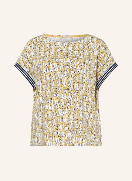 mey Lounge-Shirt Serie SAMANTHA, Farbe: DUNKELGELB/ CREME/ ROT (Bild 1)
