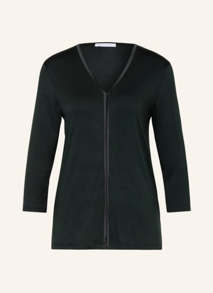 mey Lounge-Shirt Serie ALENA mit 3/4-Arm , Farbe: DUNKELGRÜN (Bild 1)