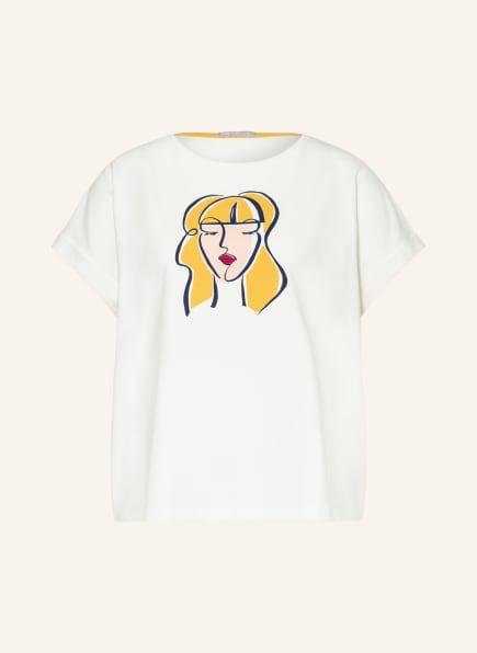 mey Lounge-Shirt Serie SAMANTHA, Farbe: WEISS/ DUNKELGELB/ SCHWARZ (Bild 1)
