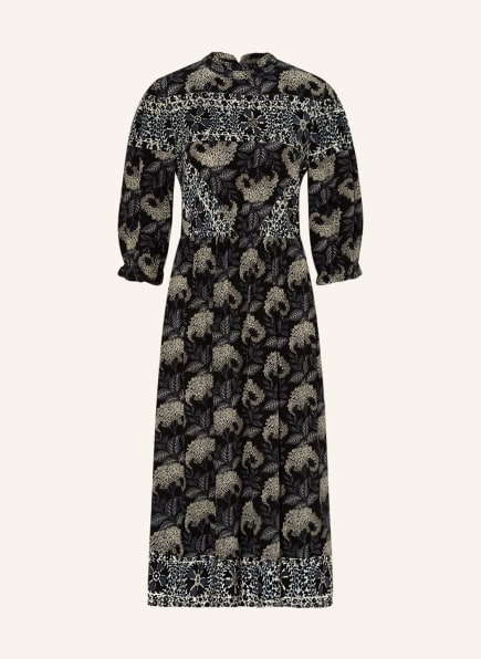 ba&sh Kleid GELA mit 3/4-Arm , Farbe: DUNKELBLAU/ CREME (Bild 1)