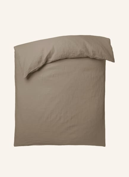 zoeppritz Bettbezug STAY aus Leinen, Farbe: HELLBRAUN (Bild 1)