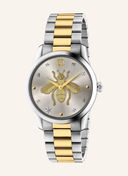 GUCCI Armbanduhr , Farbe: SILBER/ GOLD (Bild 1)
