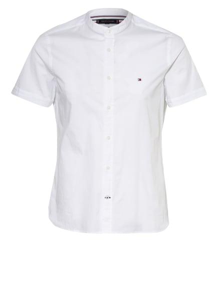 TOMMY HILFIGER Kurzarm-Hemd Slim Fit mit Stehkragen, Farbe: WEISS (Bild 1)