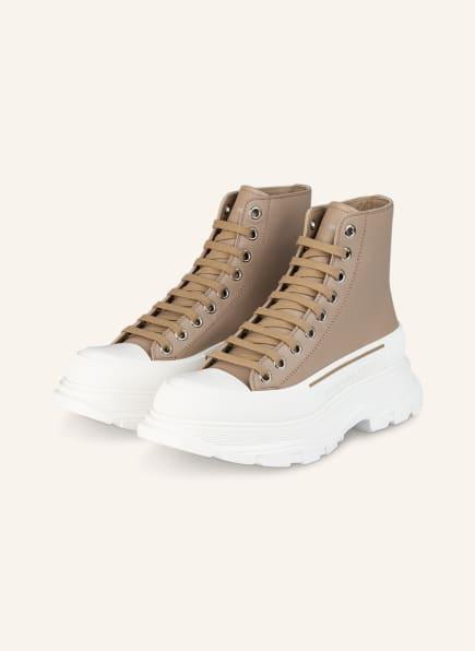 Alexander McQUEEN Hightop-Sneaker, Farbe: CAMEL/ WEISS (Bild 1)