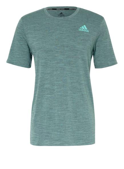 adidas T-Shirt CITY ELEVATED, Farbe: GRÜN (Bild 1)