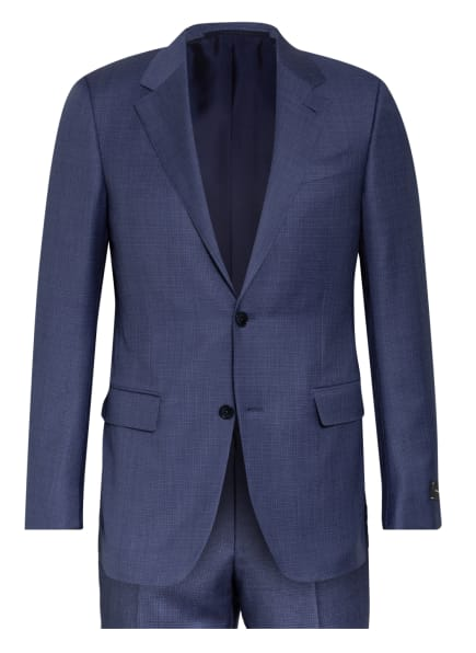 Ermenegildo Zegna Anzug MILANO Extra Slim Fit, Farbe: BLAU/ WEISS (Bild 1)