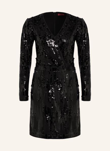 HUGO Kleid KELIAS mit Paillettenbesatz, Farbe: SCHWARZ (Bild 1)