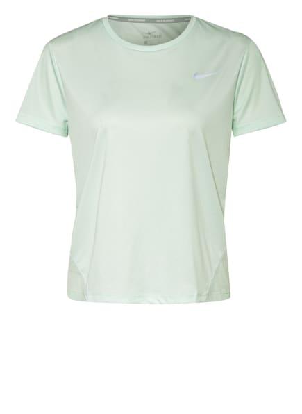 Nike Laufshirt MILER mit Mesh-Einsatz, Farbe: MINT (Bild 1)