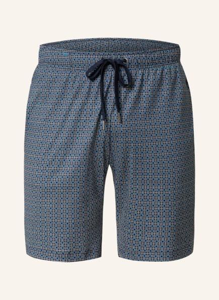 CALIDA Lounge-Shorts REMIX , Farbe: BLAU/ DUNKELBLAU/ WEISS (Bild 1)