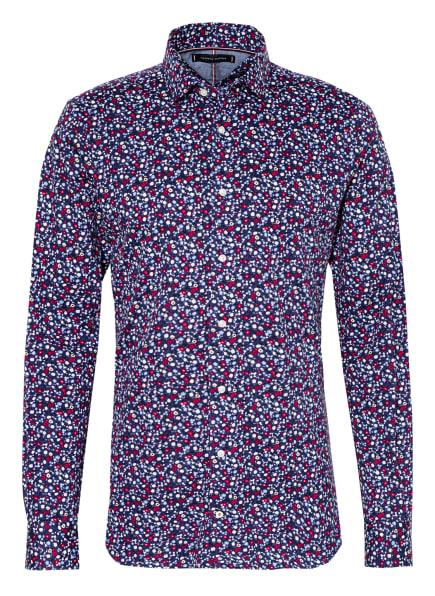 TOMMY HILFIGER Jerseyhemd Slim Fit, Farbe: DUNKELBLAU/ ROT/ GELB (Bild 1)