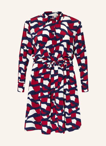TOMMY HILFIGER Hemdblusenkleid , Farbe: SCHWARZ/ DUNKELBLAU/ DUNKELROT (Bild 1)