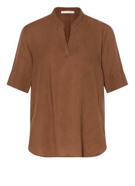 ETERNA Blusenshirt mit Leinen, Farbe: BRAUN (Bild 1)