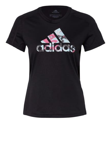 adidas T-Shirt FAST, Farbe: SCHWARZ (Bild 1)