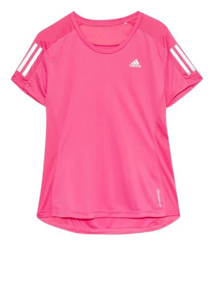 adidas Laufshirt OWN THE RUN mit Mesh-Einsätzen, Farbe: PINK (Bild 1)