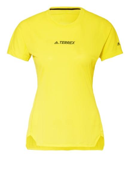 adidas Laufshirt TERREX PARLEY AGRAVIC TRAIL mit Mesh-Einsatz, Farbe: NEONGELB (Bild 1)