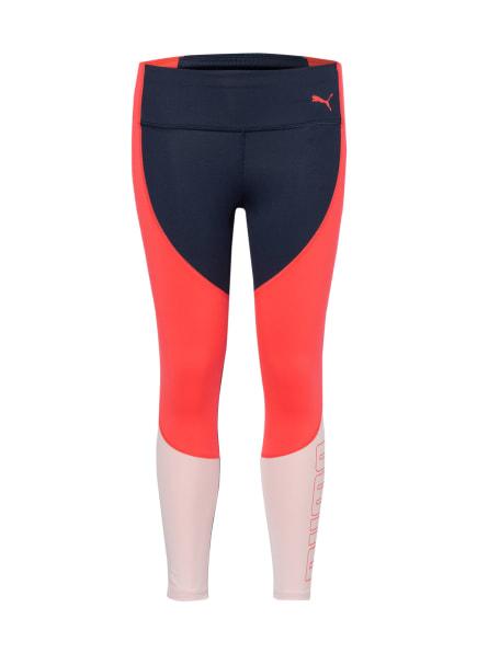 PUMA Leggings, Farbe: DUNKELBLAU/ NEONPINK/ HELLROSA (Bild 1)