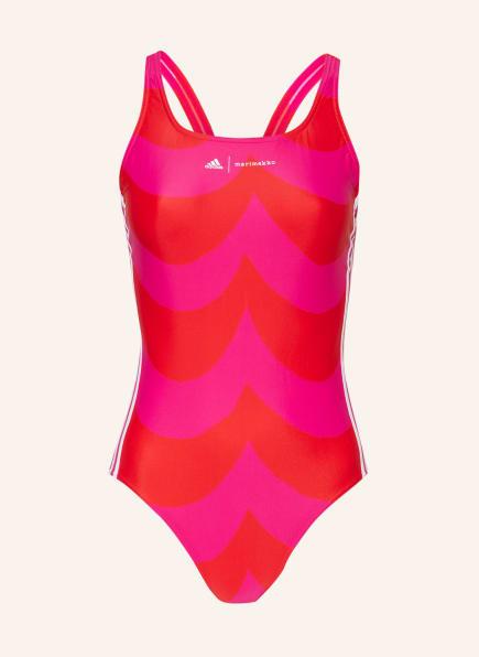 adidas Badeanzug SH3.RO MM LA S, Farbe: NEONPINK/ ROT (Bild 1)