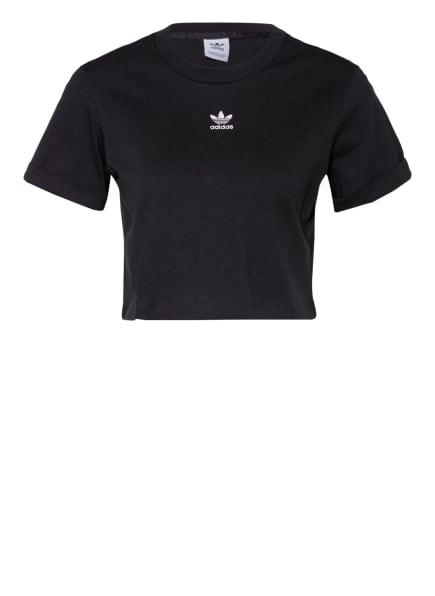adidas Originals Cropped-Shirt ADICOLOR ESSENTIALS, Farbe: SCHWARZ (Bild 1)