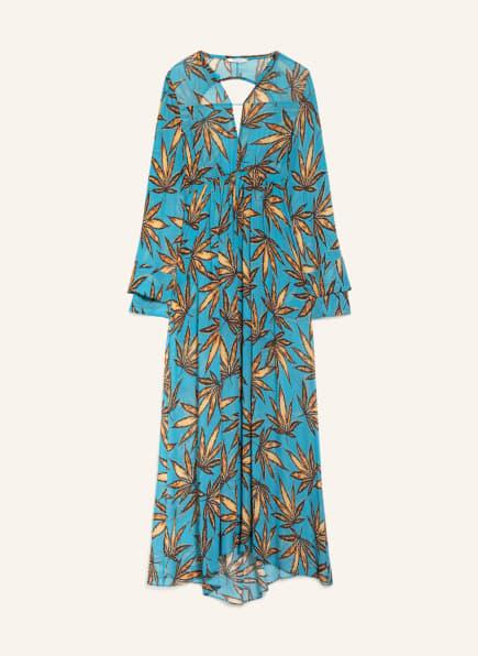DOROTHEE SCHUMACHER Kleid mit Cut-outs, Farbe: NEONBLAU/ HELLORANGE/ SCHWARZ (Bild 1)