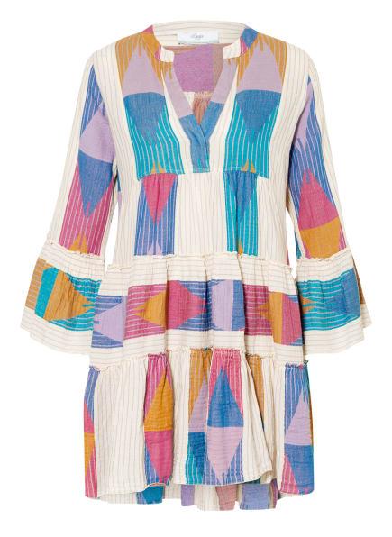 Devotion Kleid ELLA mit 3/4-Arm , Farbe: HELLLILA/ BLAU/ ECRU (Bild 1)