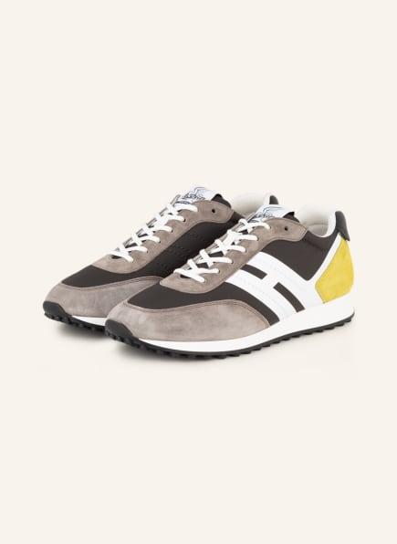 HOGAN Sneaker H383, Farbe: DUNKELGRAU/ GRAU/ WEISS (Bild 1)