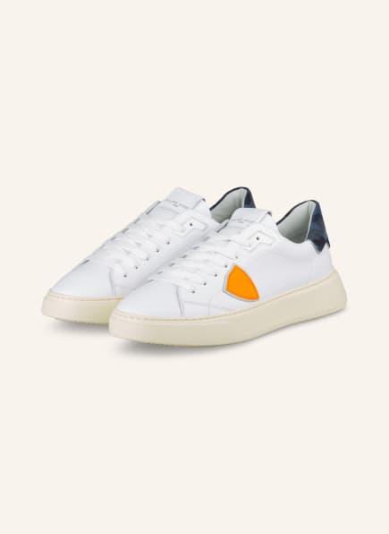 PHILIPPE MODEL Sneaker TEMPLE, Farbe: WEISS/ BLAU (Bild 1)