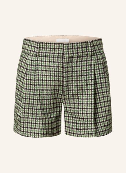 Chloé Tweed-Shorts, Farbe: GRÜN/ BEIGE/ SCHWARZ (Bild 1)
