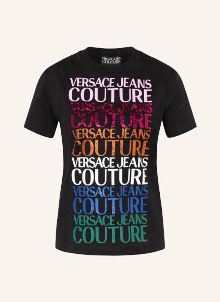 VERSACE JEANS COUTURE T-Shirt mit Paillettenbesatz , Farbe: SCHWARZ (Bild 1)