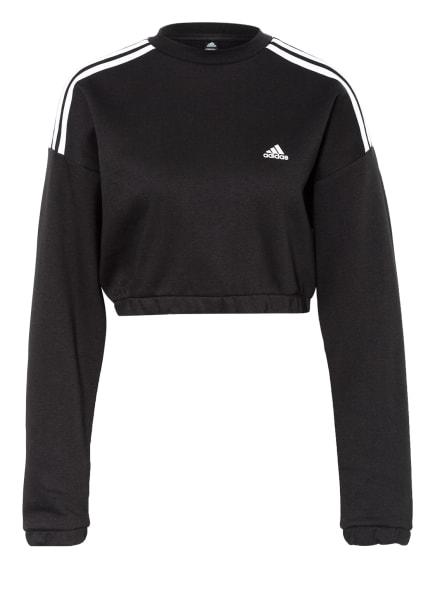adidas Cropped-Sweatshirt CROP CREW, Farbe: SCHWARZ (Bild 1)