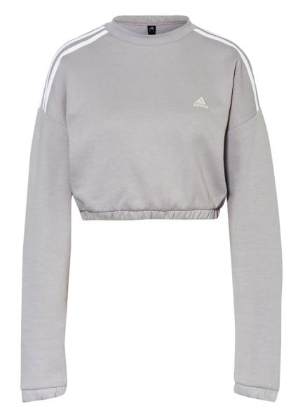 adidas Cropped-Sweatshirt CROP CREW, Farbe: HELLGRAU (Bild 1)