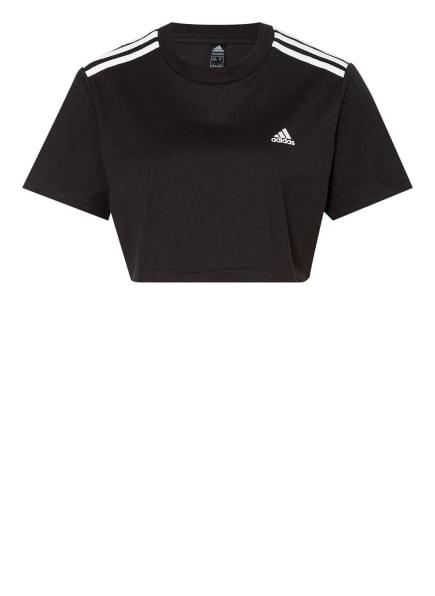 adidas Cropped-Shirt HYPERGLAM, Farbe: SCHWARZ (Bild 1)