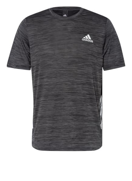 adidas T-Shirt mit Mesh-Einsatz, Farbe: SCHWARZ/ GRAU (Bild 1)