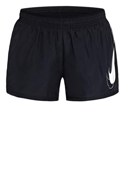 Nike Laufshorts SWOOSH RUN mit Mesh-Einsätzen, Farbe: SCHWARZ (Bild 1)