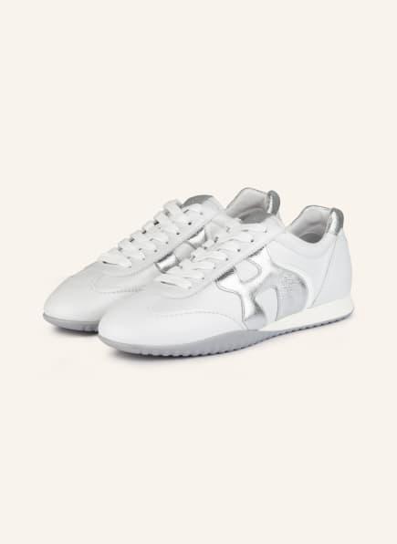 HOGAN Sneaker OLYMPIA-Z, Farbe: WEISS/ SILBER (Bild 1)