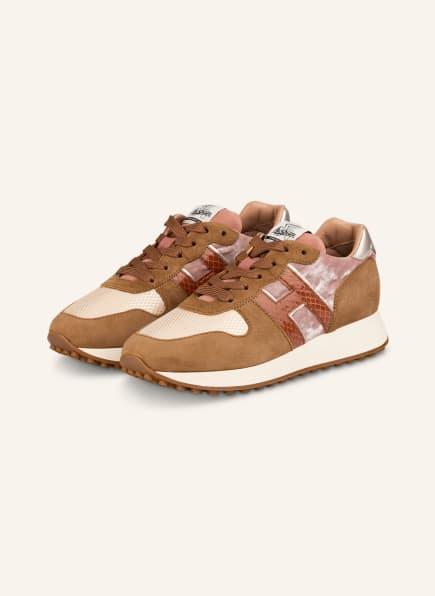HOGAN Sneaker H429, Farbe: HELLBRAUN/ ROSÉ/ CREME (Bild 1)