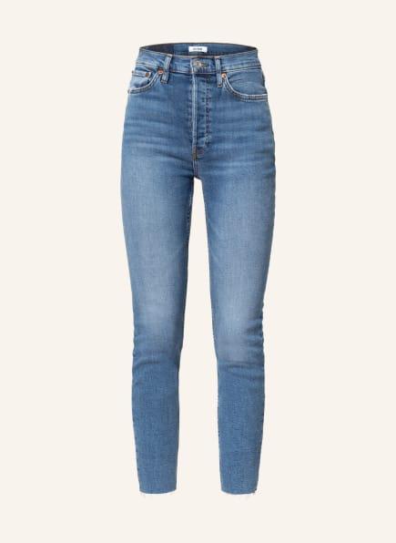 RE/DONE 7/8-Jeans 90s HIGH RISE ANKLE CROP, Farbe: light stone hellblau denim (Bild 1)