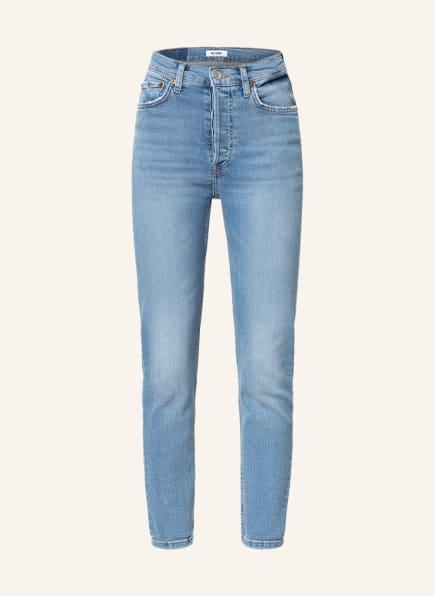 RE/DONE 7/8-Jeans 90s HIGH RISE ANKLE CROP, Farbe: indigo storm mittelblau denim (Bild 1)