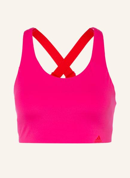 adidas Sport-BH ULTIMATE mit Mesh-Einsatz , Farbe: PINK (Bild 1)