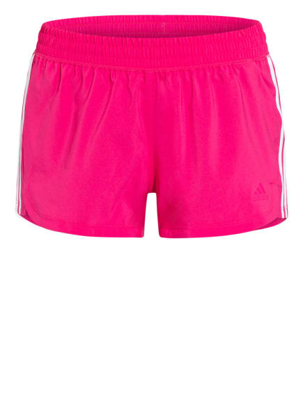 adidas Fitnessshorts PACER, Farbe: PINK/ WEISS (Bild 1)