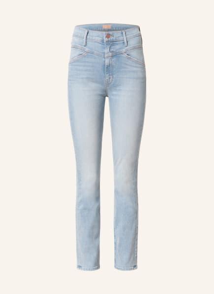 MOTHER Straight Jeans THE DAZZLER YOKE FRONT ANKLE, Farbe: lots of free hugs hellblau denim (Bild 1)