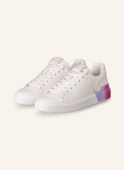 BALMAIN Sneaker B COURT , Farbe: WEISS/ LILA (Bild 1)