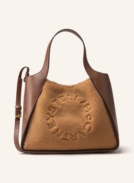 STELLA McCARTNEY Handtasche mit Teddyfell-Besatz, Farbe: BRAUN/ HELLBRAUN (Bild 1)
