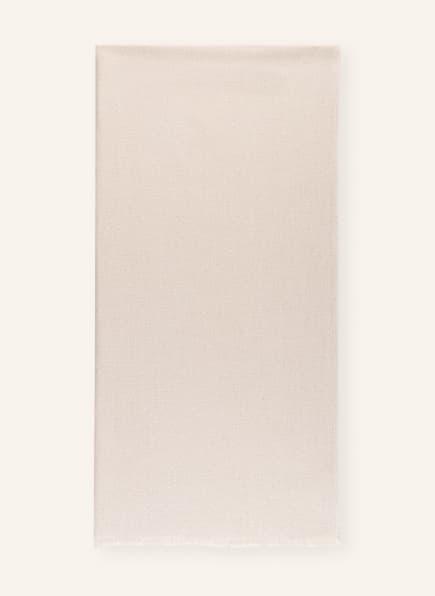 BRUNELLO CUCINELLI Schal mit Seide und Glitzergarn, Farbe: CREME (Bild 1)