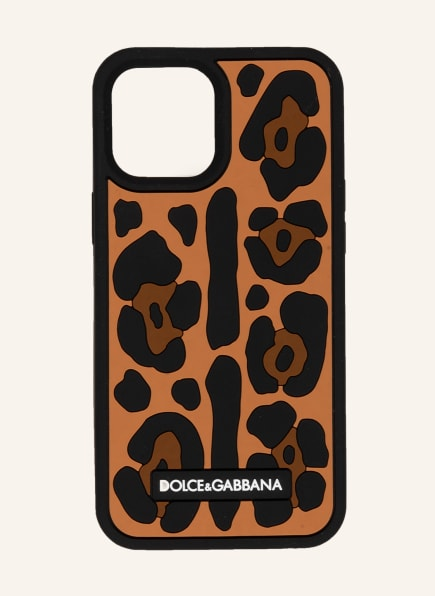 DOLCE&GABBANA Smartphone-Hülle, Farbe: SCHWARZ/ COGNAC/ BRAUN (Bild 1)