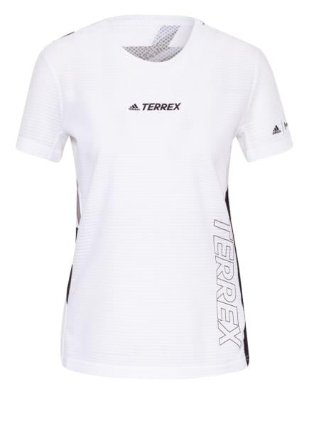 adidas Laufshirt TERREX PARLEY AGRAVIC TR PRO mit Mesh-Einsatz, Farbe: WEISS/ SCHWARZ/ GRAU (Bild 1)