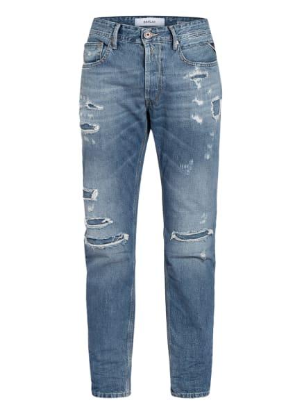 REPLAY Destroyed Jeans WILLBI Regular Slim Fit, Farbe: 009 MEDIUM BLUE (Bild 1)