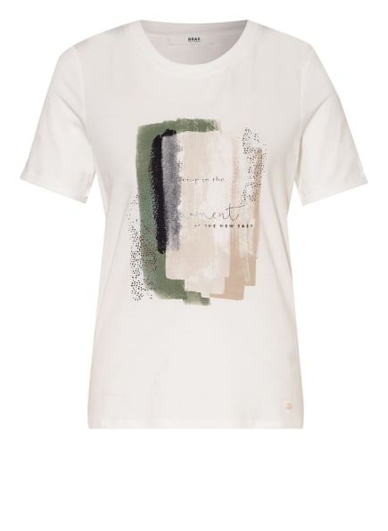 BRAX T-Shirt, Farbe: WEISS/ BLAU/ GRÜN (Bild 1)