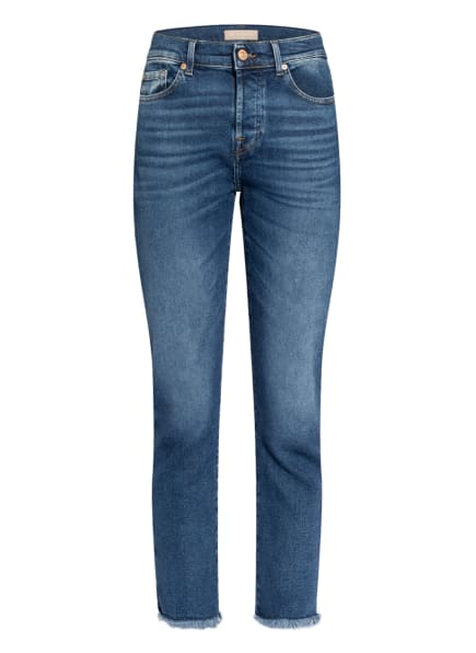 7 for all mankind Jeans ASHER , Farbe: REJOICE W STEP HEM DISTRESSED LUXE VINTAGE RJ MID BLUE (Bild 1)