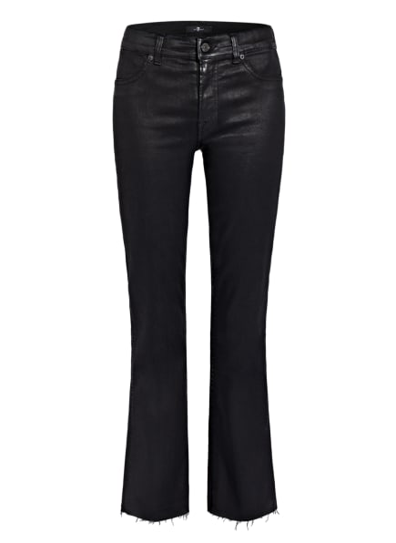 7 for all mankind Flared Jeans ANKLE BOOT , Farbe: BLACK SLIM ILLUSION W RAW CUT COATED BL BLACK (Bild 1)