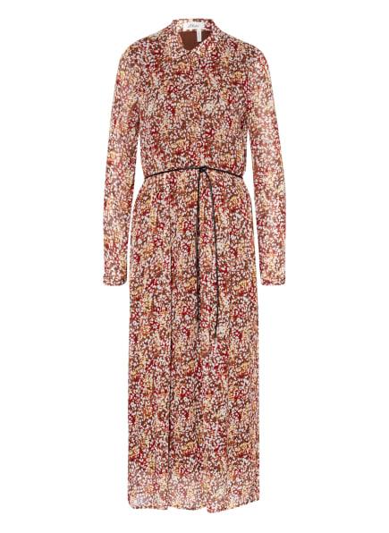s.Oliver BLACK LABEL Hemdblusenkleid mit Rüschenbesatz, Farbe: DUNKELORANGE/ BRAUN/ DUNKELROT (Bild 1)